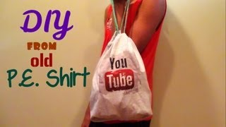 DIY No-Sew Drawstring Bag (Back to School) -HowToByJordan - YouTube