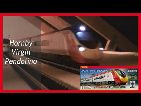 Hornby Virgin Pendolino Model Train on my Loft Railway layout