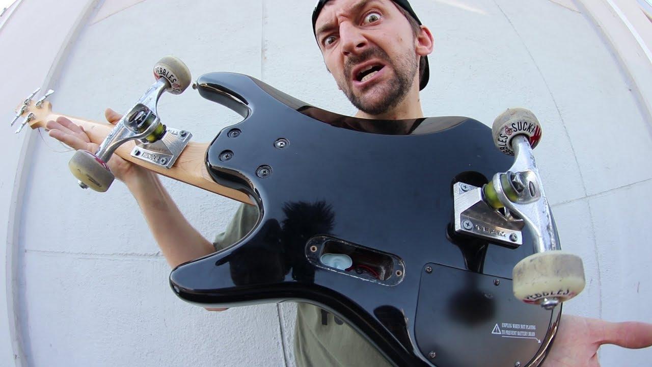 BASS GUITAR SKATEBOARD!! | SKATE EVERYTHING EPISODE 73
