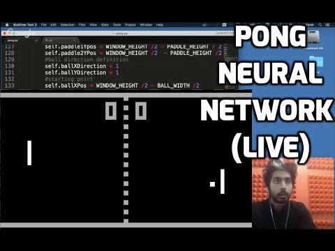 Pong Neural Network (LIVE)