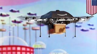 アマゾンが輸送用ドローンの高速空域を提言