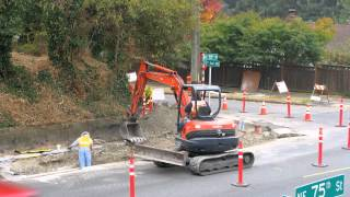 Timelapse of SDOT improving an intersection for the 39th Ave Greenway