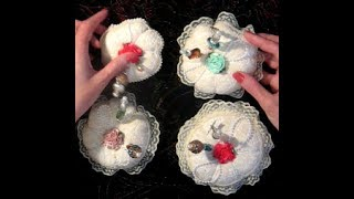 "In this video share I'm showing a few stick pins I made and some pincushions. Amanda Rolfe made an easy-to follow tutorial on how to make a  petal pincushion: https://youtu.be/05UpWY7vGeI. I tweaked my pincushions by covering the top layer of fabric with lace and adding some flower and pearl embellishments. My stick pins were made with 2-1/2"" sewing pins (and one smaller pin).Website: http://www.scrappinrabbit.comEtsy shop: https://www.etsy.com/ca/shop/TheScrappinRabbitEbay store: http://www.ebay.ca/usr/scrappin_rabbit/Facebook: https://www.facebook.com/scrappinrabbit/"