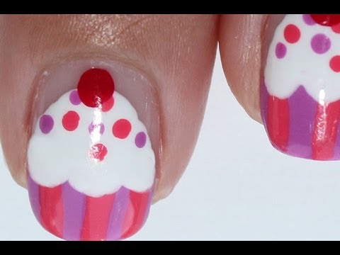 How To Make Cupcake Nail Art!