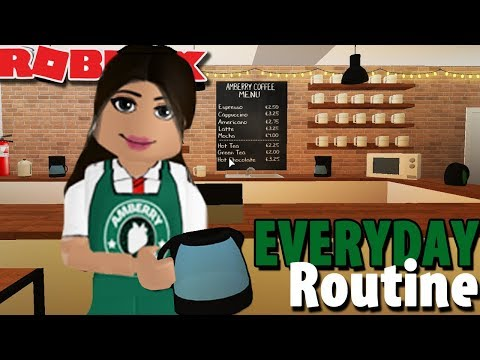 EVERYDAY ROUTINE AT AMBERRY COFFEE SHOP   Bloxburg  Roblox Roleplay