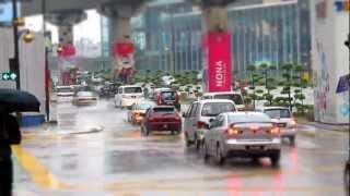 Tilt shift - Time Lapse : Rainy Day Kuala Lumpur - Malaysia - SX130 is