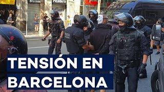 Las imágenes de los altercados en Barcelona