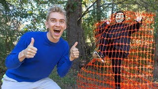 TRAPPED GAME MASTER at TOP SECRET ABANDONED LOCATION!! (exploring for mystery clues and riddles)