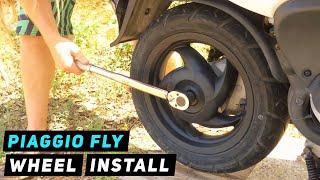 8. Piaggio Fly - Rear Wheel Installation