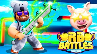 HOW TO GET THE GREEN SWORD IN ROBLOX RB BATTLES.. (RoBeats + Piggy)