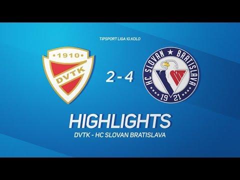 10. forduló: DVTK Jegesmedvék - Slovan Bratislava 2-4