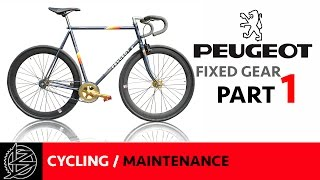 Peugeot Premiere Fixed Wheel/Single Speed Restoration Part1 Subscribe: http://www.youtube.com/c/BikeItUKonYouTube See Part 2: https://www.youtube.com/watch?v...