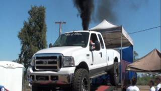 8. 6.0 Ford Powerstroke 443 RWHP dyno on 40s  FUEL ONLY NO CORRECTIONS