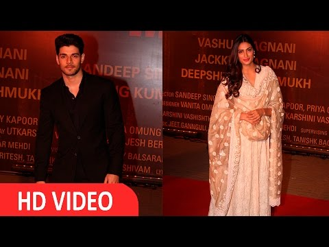 Sooraj Pancholi & Athiya Shetty At Red Carpet Of Grand Screening Of Film Sara bjit