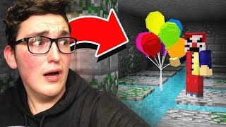 HIDING FROM THE EVIL MINECRAFT CLOWN!