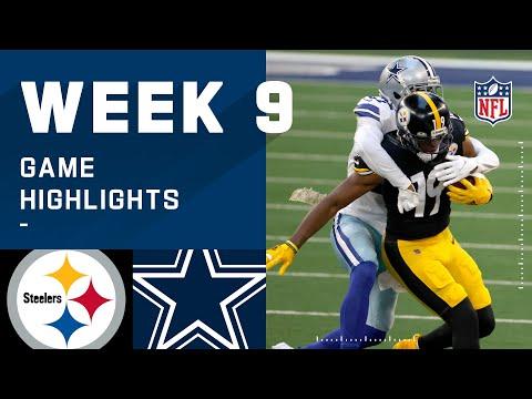Steelers vs. Cowboys Week 9 Highlights | NFL 2020