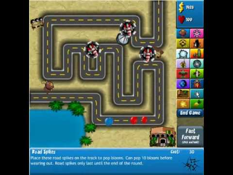bloonstd4 - This is a video of me, Tasselfoot, beating BTD4 (Bloons Tower Defense 4) on Hard Mode, on the