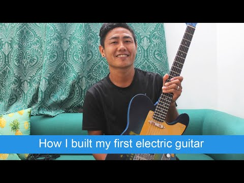 How I made my first electric guitar (Fender Telecaster) VLOG44