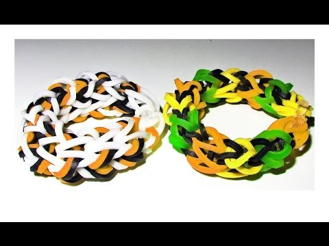 NEW: How to Make a Rainbow Loom Dragon Bone Bracelet with loom + bands (EASY)