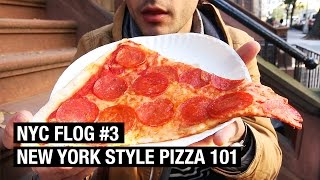 NEW YORK-STYLE PIZZA 101 ! NYC FLOG #3 by Alex French Guy Cooking