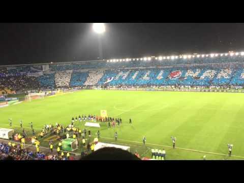 Millonarios vs Nacional 2-1 2016 (salida y tifo) - Comandos Azules - Millonarios