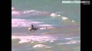 ataque de tubarao Câmera Flagra Momento Exato Do Ataque De Tubarão A Turista No Recife