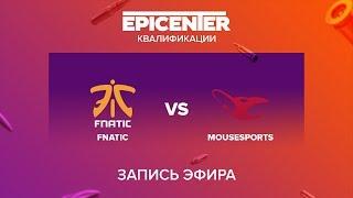 Fnatic vs mousesports - EPICENTER 2017 EU Quals - map1 - de_cobblestone [yXo, CrystalMay]