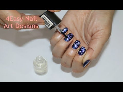 4 NAIL ART Designs for Beginners  Without Nail Art Tools  Simple Nail Designs