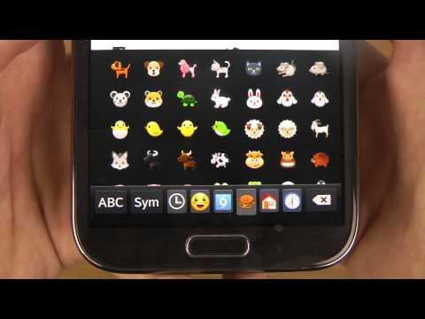 Samsung Galaxy Note 2 Android 4.4.2 KitKat – Emoji Keyboard Review