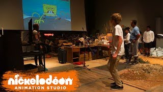 Nick Community Efforts invited John Muir Middle School to the foley recording studio for SpongeBob SquarePants to try their hand at recording sound effects for an episode of SpongeBob with the same props and techniques used for the show!Subscribe for more awesome videos from Nickelodeon Animation! http://www.youtube.com/subscription_c...Visit NAS around the web:Official Website: http://nickanimationstudio.com/Facebook: https://www.facebook.com/NickAnimationTumblr: http://nickanimationstudio.tumblr.com/Twitter: https://twitter.com/NickAnimationInstagram: https://instagram.com/nickanimation