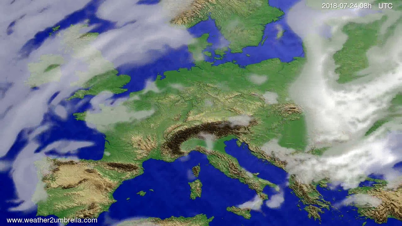 Cloud forecast Europe 2018-07-21