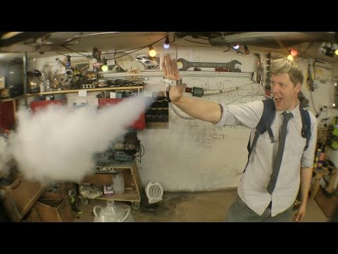 Colin Furze Freezes Stuff Like Marvel  s Iceman With a Palm Mounted Liquid Nitrogen