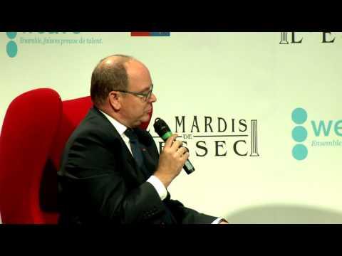 « Les Mardis de l'ESSEC » invitent S.A.S. le Prince Souverain