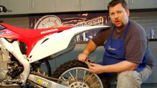10. Dirt Bike Chain Adjustment and Lubrication