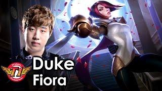 Học Fiora đi top bá đạo như siêu nhân trong tay Duke