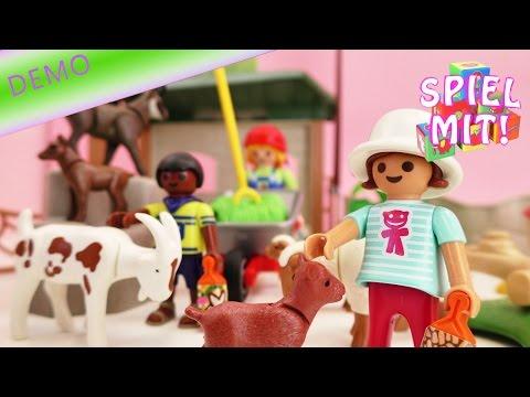 Playmobil Streichelzoo aufbauen | Gestalten Basteln und Spielen | Kleintier Zoo Niedlich
