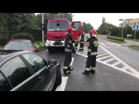 Wideo1: Zderzenie trzech aut na ul. Unii Europejskiej w Lesznie