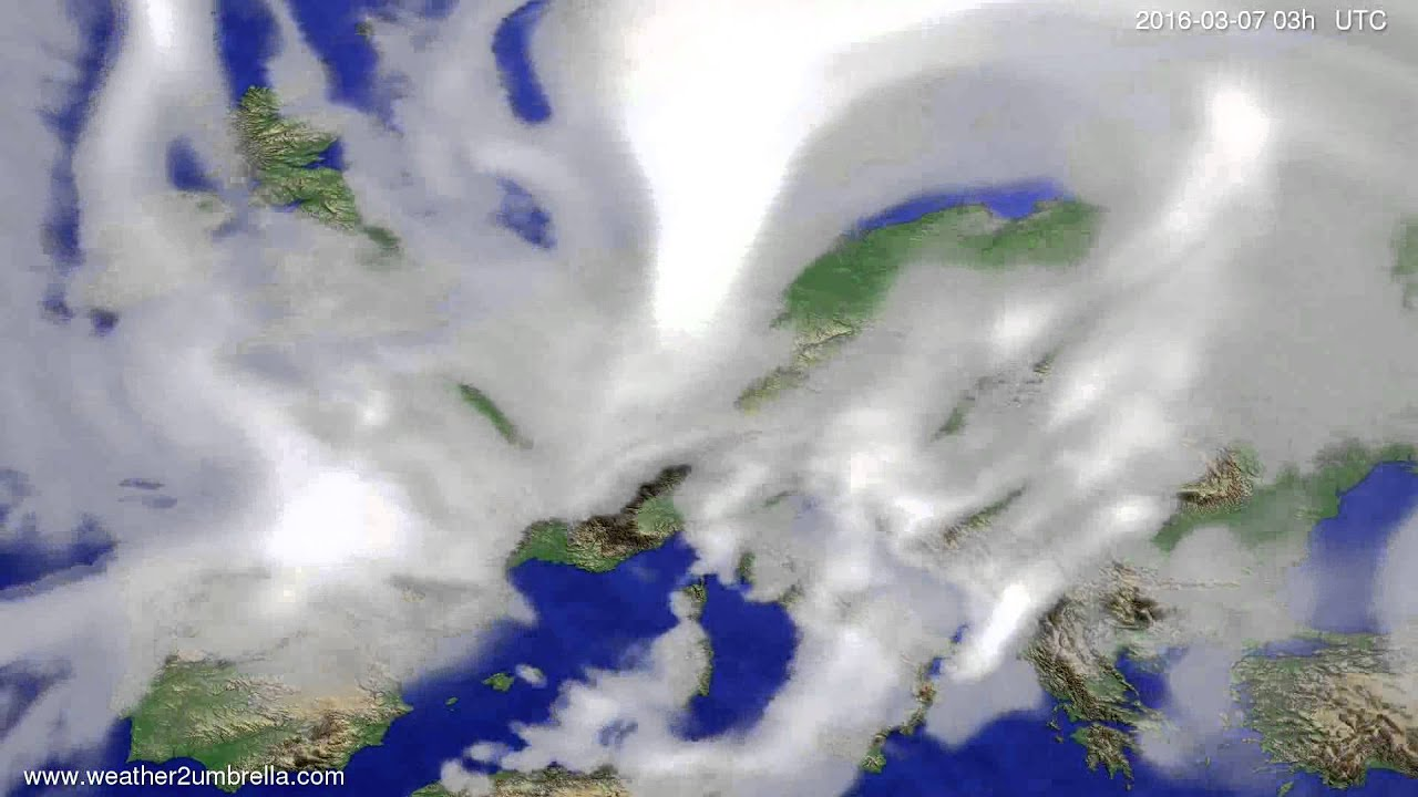 Cloud forecast Europe 2016-03-04