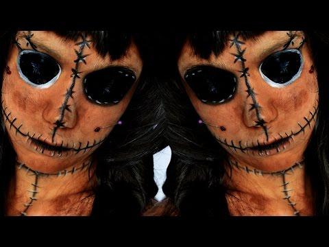 LA POUPEE VOODOO - Tutoriel maquillage facile pour Halloween - Horreur Garantie !