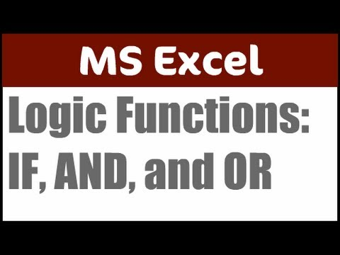 Excel AND and OR functions