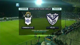 Fútbol En Vivo. Gimnasia LP - Vélez. Fecha 10. Torneo Primera División 2014. FPT.