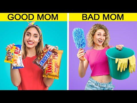 Bad Mom vs Good Mom / 13 Funny Situations