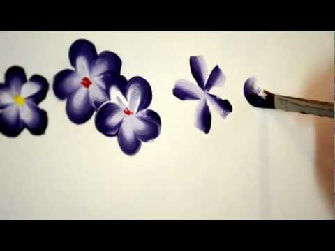 flower painting - This is the video to accompany my easy 5 petal flower tutorial on my blog. View my blog to follow my step by step flower painting tutorials. www.flowerpatchf...