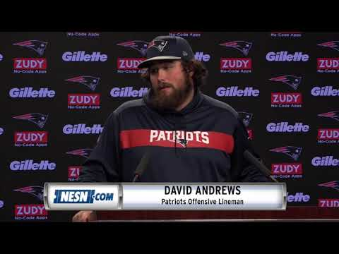 Video: David Andrews Patriots vs. Chargers NFL Divisional Playoffs Thursday Press Conference