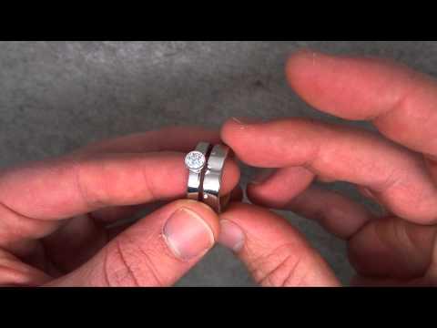 Henrich & Denzel - Platinum & Inner Rose Gold Engagement Rings - ORRO Contemporary Jewellery Glasgow