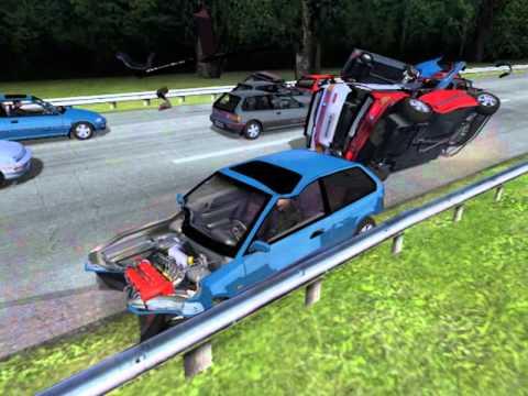 rFactor Honda Civic crash test vol. 3
