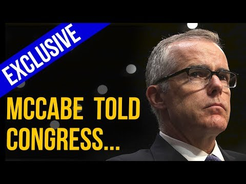 EXCLUSIVE: McCabe Told Congress That Comey's Draft Exoneration of Clinton Was Unprecedented