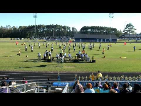 Roanoke Rapids HS Marching Band at 37th Anniversary Greene Central High School Band Day 10/22/2016