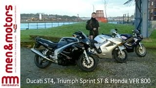 8. Sports Tourers Review: Ducati ST4, Triumph Sprint ST & Honda VFR 800