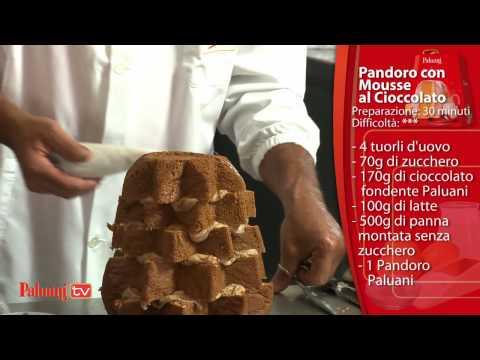 pandoro con mousse al cioccolato - ricetta